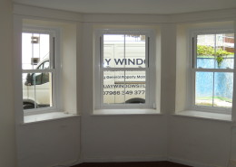 New box sash Windows supplied and fitted by Quay Windows in North Devon