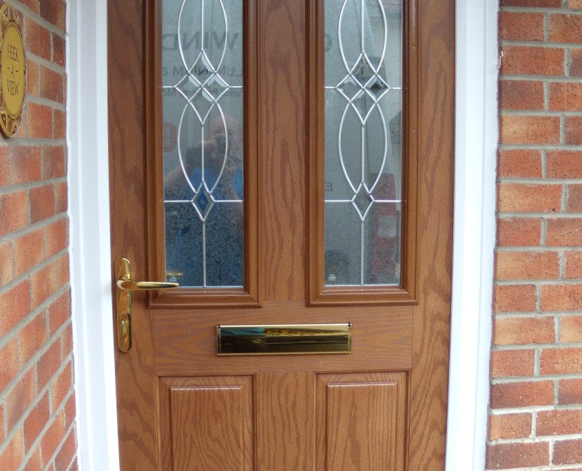 New composite front door quay windows for Front door with 6 windows